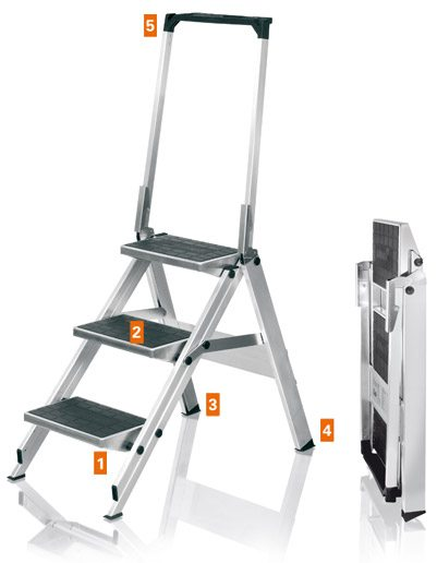 Safety Steps 3 Step Compact Little Jumbo Ladders