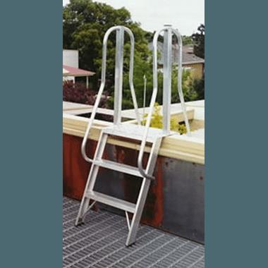 Aluminium Roof Access Ladder - Short Side