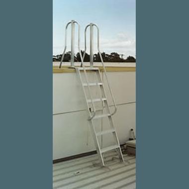 Aluminium Roof Access Ladder - Tall Side