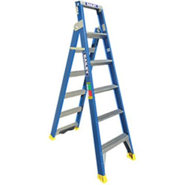 "Dual Purpose Ladders - Fibreglass 150Kg - Bailey 150 FDP with ""V"" Rung"