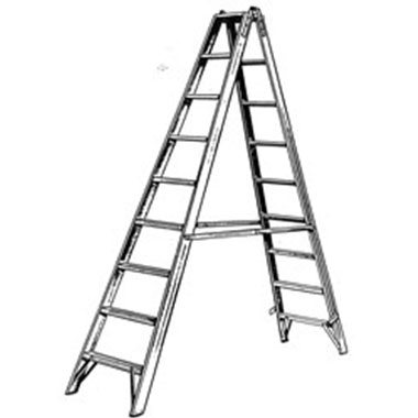 Step Ladders - FIBREGLASS DOUBLE SIDED 150 KG - C KENNETT FGDSF