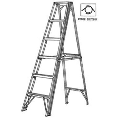Step Ladders - Aluminium Double Sided 150 Kg - C Kennett SL