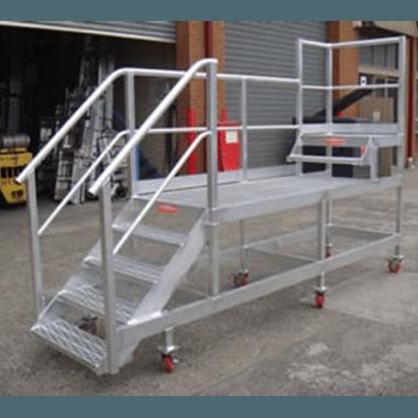 Custom Dual Height Mobile Stair Platform