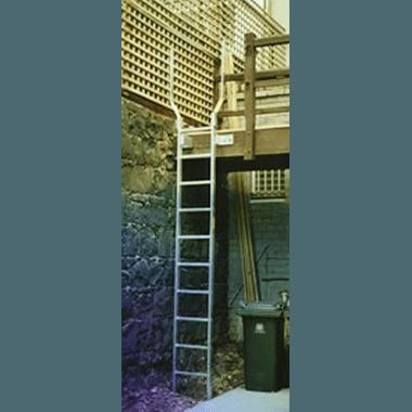 Fixed Access Ladder with Walk-Thru Handrails
