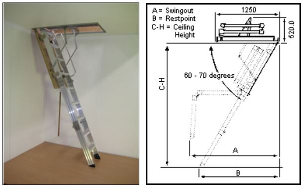 Attic / Ceiling Ladders - HEAVY COMMERCIAL RATED - 150KG