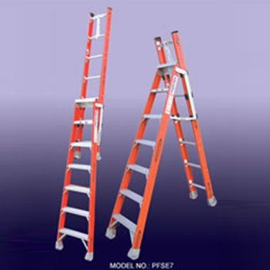 Step Extension Ladders - Fibreglass 150Kg - Indalex PFSE