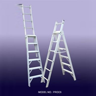 Step Extension Ladders - Aluminium 150Kg - Indalex PROC