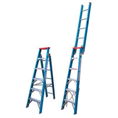 Indalex TRDDPF 135Kg Fibreglass Dual Purpose Ladder