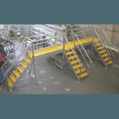 Large Custom Multi-Access Platform with Anti-Slip