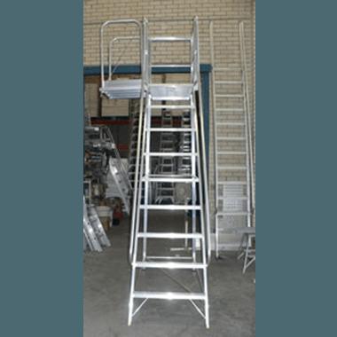 Mobile Aluminium Ladder Platform with Side Drawbridge