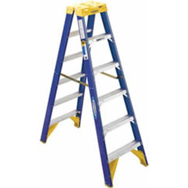 Step Ladders - FIBREGLASS DOUBLE SIDED 150 KG - Werner T6300AZ