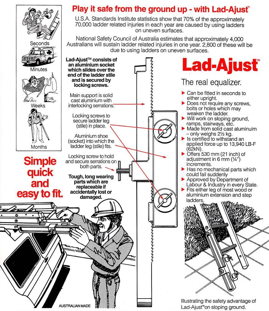 Lad-Adjust™ Ladder Leveller