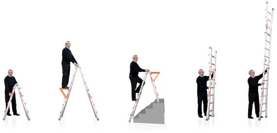 WAKÜ Telescopic Ladders - Little Jumbo Ladders